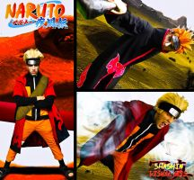 Sage Mode Naruto vs. Pain by Soniclinx