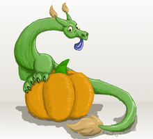 Pumpkin Dragon by bibliodragon