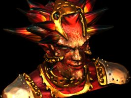 zbrush: king of hell concept by Arcandio