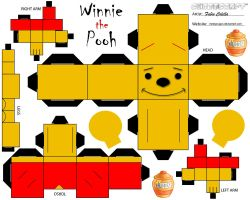 Winnie the pooh cubeecraft by melopruppo