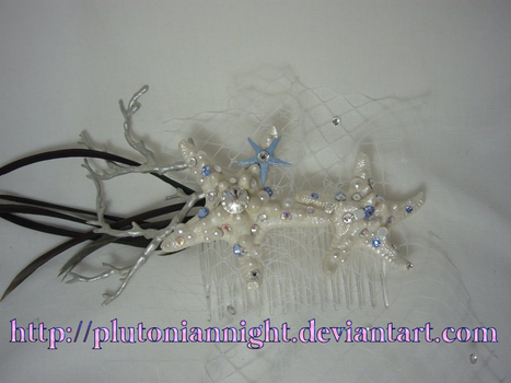 Something Blue Mermaid Inspired Fascinator by PlutonianNight