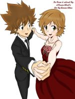 Tsuna and Kyoko by oOQueen-AliceOo