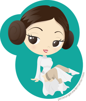 Princess Leia Pin up by PetiteTangerine