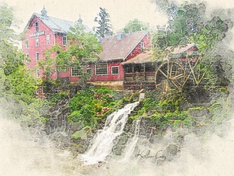 Clifton Mill Ohio by KathleenCasey