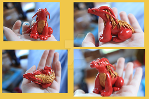 Red and Gold Dragon by KatScrapMew