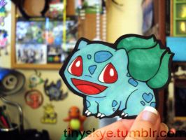 Paper Bulbasaur by TinySkye
