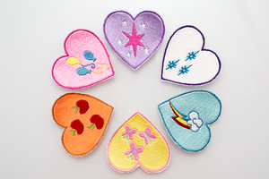 My Little Pony Cutie Mark Heart Patches by elysiagriffin