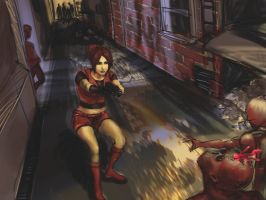 Claire Redfield:Panic by shrumpish