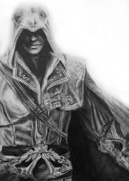 Assassins creed Ezio Drawing by Keshavsart
