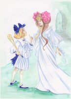 Dorothy and Ozma by angeldevilland
