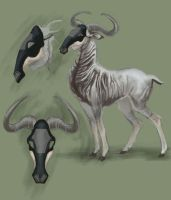 Gnu antelope for TEF by Winnetah
