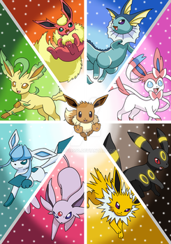 Poster of the Eeveelutions by Tails19950
