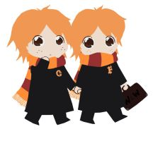 Fred and George by Lusikka