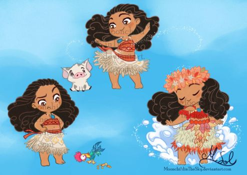Chibi Moana by MoonchildinTheSky