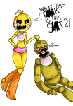 What the F--K is this s--t?! .:FNAF:. by LineaCake