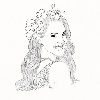 Lana Del Rey Sketch by brokensuicide