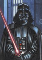 DARTH VADER 1 SKETCH CARD by AHochrein2010