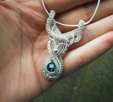 Silver pendant by Toowired