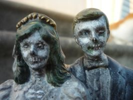 Zombie Undead Wedding cake Topper by Ugly Shyla by uglyshyla