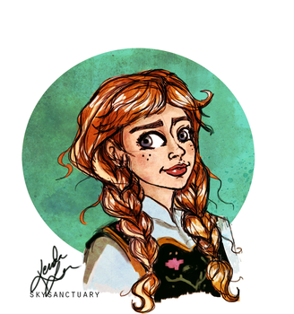 Anna Sketch by KTorresArt