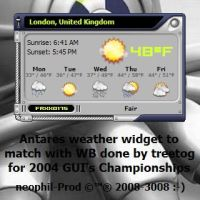 Antares Weather Widget by neophil