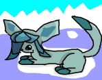 Glaceon floating away by Holly-The-Fox