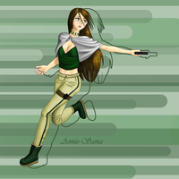 Girl with Gun color by Annie-sama