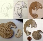 Sneak Peek - Pangolin Fridgemagnet by demiveemon