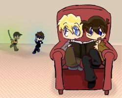 Reading Sherlock - COLORED by Lostinthedreams