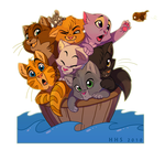 The kitty boat by VixieArts