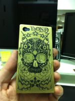 Etched Brass iphone case by TBOND007