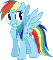 Happy Rainbow dash vector by rhubarb-leaf