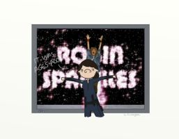 .Robin Sparkles!. by bababug
