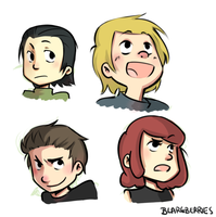 kid avengers new looks by blargberries