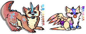 Fluffy Cat and Griffin Designs by Shroommu