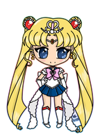 Chibi Princess Sailor Moon by GangstaCakes