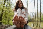 Katharina - Sole grab by foot-portrait