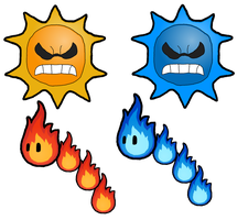 The Angry Suns and Fire Snakes by Leonidas23