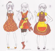 YTCTMST: Honey Bun's outfits by DoubleAABattery