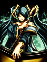 +LOL Digi-art Contest: Sona+ by twilight-inochihime