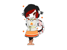 Candycorn dress by Motion-Horizon
