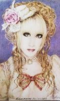 Hizaki from Versailles (Colored pencil portrait) by deicus4ever