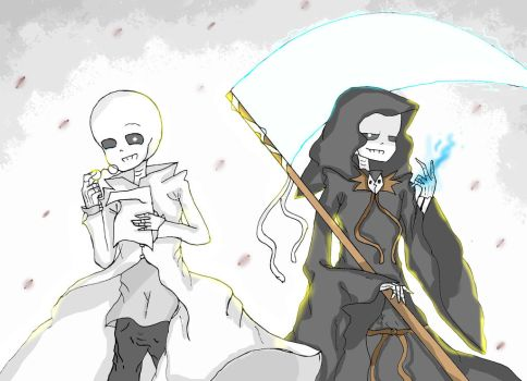 science sans and reaper sans by yngvet