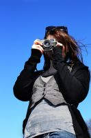 Blue Sky and Camera by n3onStarsxx