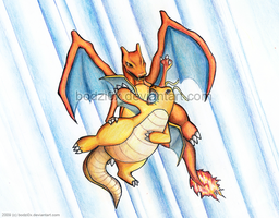 charizard vs. dragonite by bodzi0x