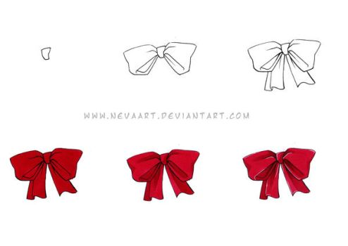 Nevas Copic bow tutorial by Nevaart