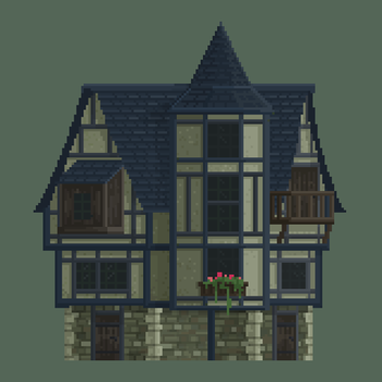 Medieval Mansion by Kingkersharks