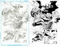 Batman page 4 Inks by DRPR