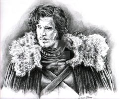 Jon Snow - A Game of Thrones by leiaskywalker83