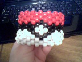 Pokeball Cuff by MeeganUrufu
